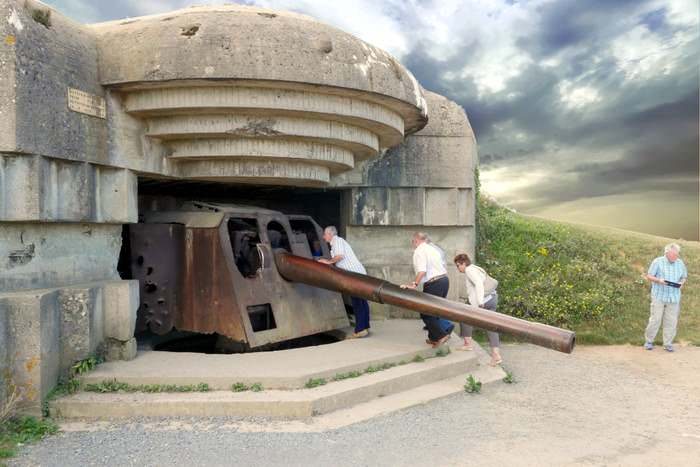 Gun Battery at Longues sur Mer in Normandy, france
