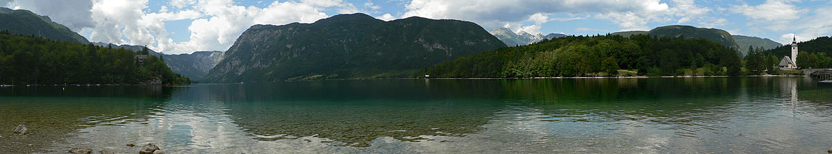 Bohinj surrounded by the Julian Alps