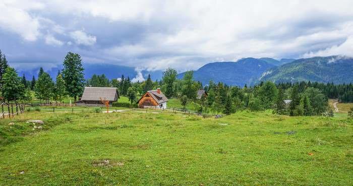 Farm houses in Bohinj