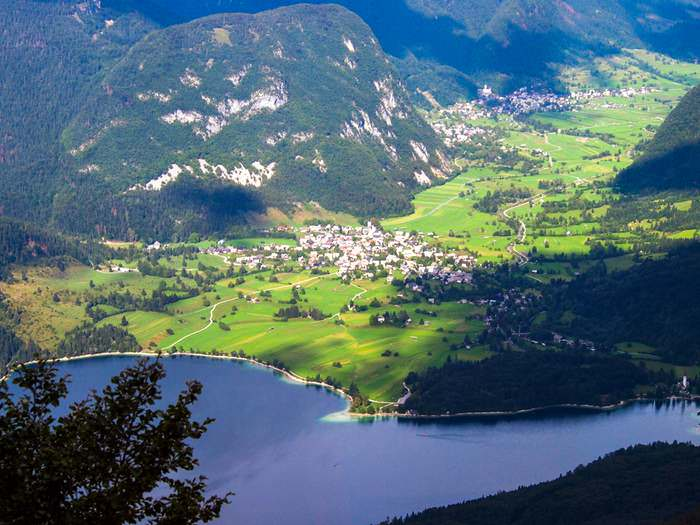 View of Bohinj Valley from the Vogel Cable Car