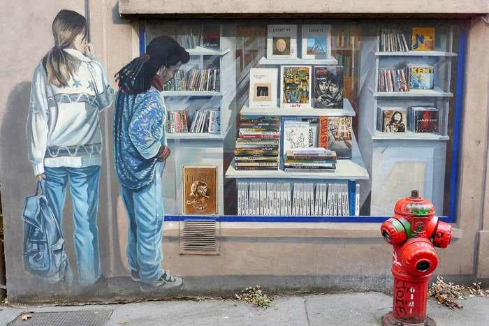 Local mural in Lyon